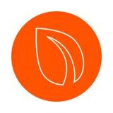 Imagen crypto de la moneda de Peercoin, línea monocromática redonda icono, cambio simple del color Fotos de archivo libres de regalías