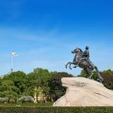 Imagen cuadrada del jinete de bronce en St Petersburg Foto de archivo libre de regalías