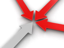 imagen 3d de la flecha Fotos de archivo libres de regalías