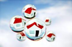 imagen 3D de las burbujas inmobiliarias (de la casa) Fotos de archivo