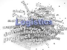 imagen 3d Logistik gibt Konzeptwort-Wolkenhintergrund heraus Lizenzfreie Stockfotografie