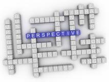 imagen 3d Perspektive in der Wortwolke Stockfotografie