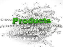 imagen 3d Produktkonzept-Wortwolkenhintergrund Lizenzfreie Stockbilder