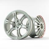 Imagen de aluminio de la rueda Borde figurado imagen de la aleación para el coche Mejor usado para la promoción del salón del aut Foto de archivo