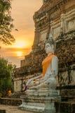Imagen de Buda en la ciudad antigua de ayutthaya Imagen de archivo libre de regalías