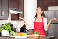 Imagen de cocinar divertida Foto de archivo libre de regalías