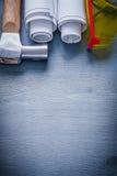 Imagen de Copyspace rodada encima de gafas del martillo de los modelos Foto de archivo libre de regalías
