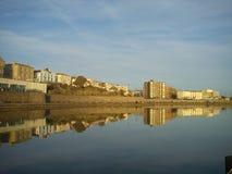 Imagen de espejo de Weston Super Mare Marine Lake Foto de archivo libre de regalías