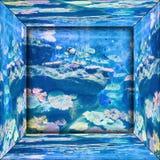 Imagen de espejo del acuario fotos de archivo libres de regalías