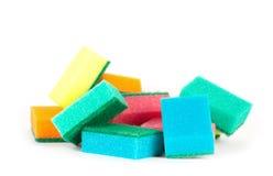 Imagen de esponjas coloreadas fotos de archivo