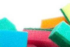 Imagen de esponjas coloreadas imagenes de archivo