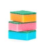 Imagen de esponjas coloreadas foto de archivo