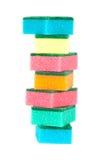 Imagen de esponjas coloreadas fotografía de archivo