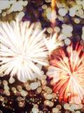 Imagen de falta de definición de la celebración del fuego artificial Foto de archivo libre de regalías