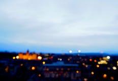 Imagen de falta de definición de la ciudad de Edimburgo, Escocia Imagenes de archivo
