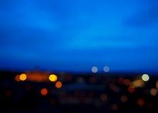 Imagen de falta de definición de las luces de la ciudad Imágenes de archivo libres de regalías