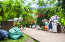 Imagen de falta de definición abstracta del festival del día en jardín con el bokeh foto de archivo