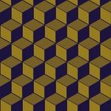 Imagen de fondo antigua elegante de la línea cúbica modelo de la geometría Imagen de archivo