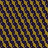 Imagen de fondo antigua elegante del modelo cuadrado cúbico de la geometría Imagen de archivo