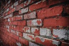 Imagen de fondo con la pared de ladrillo llevada vieja Fotografía de archivo