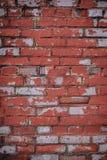 Imagen de fondo con la pared de ladrillo llevada vieja Fotografía de archivo libre de regalías