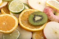 Imagen de fondo de una mezcla de fruta Fotografía de archivo