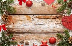 Imagen de fondo del Año Nuevo de la Navidad para el texto de la tarjeta de felicitación Imagen de archivo