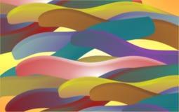 Imagen de fondo generada por ordenador colorida y encendida de 3 objetos de d stock de ilustración