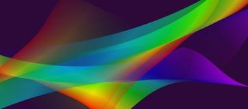 Imagen de fondo generada por ordenador ondulada del vector colorido y encendida inconsútil de 3 d fotos de archivo
