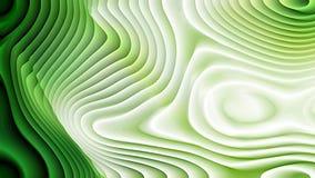 Imagen de fondo verde y blanca de la ondulación de la curvatura ilustración del vector