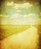 Imagen de Grunge del camino del contruside ilustración del vector