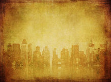 Imagen de Grunge del horizonte de Nueva York stock de ilustración