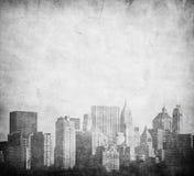 Imagen de Grunge del horizonte de Nueva York Imagen de archivo