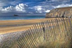 Imagen de HDR - plage de Pen Hat, Bretaña, Francia Fotografía de archivo libre de regalías