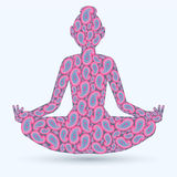 Imagen de la actitud de la yoga ilustración del vector