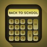 Imagen de la calculadora con una sombra larga Fotografía de archivo