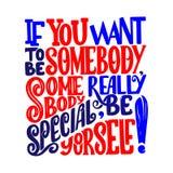 Imagen de la caligrafía del vector Dé el cartel exhausto de las letras, tarjeta de la tipografía del vintage, citas de las letras Fotos de archivo
