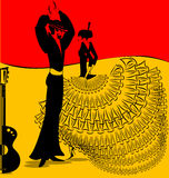 Imagen de la danza del flamenko Fotografía de archivo