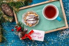 Imagen de la decoración de la Navidad, postal Foto de archivo libre de regalías