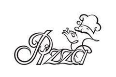 Imagen de la etiqueta de la pizza Fotografía de archivo libre de regalías