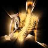 Imagen de la exploración de la radiografía de los huesos del ser humano Imagen de archivo libre de regalías