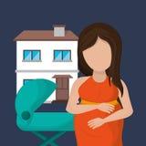 Imagen de la familia de madre o padre solteros libre illustration