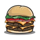 Imagen de la hamburguesa para el almuerzo Foto de archivo libre de regalías