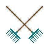 imagen de la herramienta de la agricultura del rastrillo libre illustration