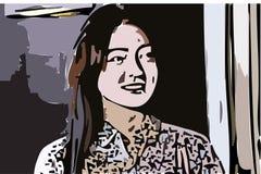 Imagen de la historieta y desain del arte Imágenes de archivo libres de regalías
