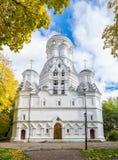Imagen de la iglesia de la decapitación de San Juan Bautista en Dyakovo, Kolomenskoye, Moscú Foto de archivo