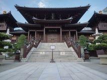 Imagen de la ji Lin Nunnery en Hong Kong un complejo grande del budhist, reconstruida en los años 90 foto de archivo libre de regalías