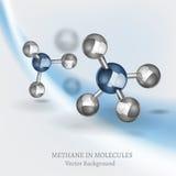 Imagen de la molécula del metano Fotos de archivo libres de regalías