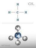 Imagen de la molécula del metano Fotografía de archivo libre de regalías