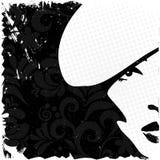 Imagen de la mujer en el estilo retro, backgroun de la tarjeta de la vendimia Imagen de archivo